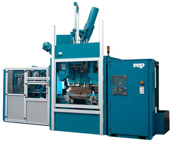 Multiinjection dual-compound multistation press for rubber molding