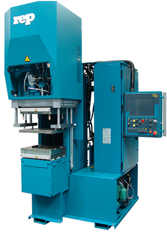 tie-barl-ess injection molding machine: c-frame for rubber injection|production of rubber profiles